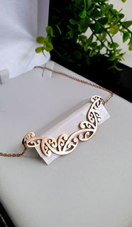 Kowhaiwhai  Rose Gold & Necklace 55mm