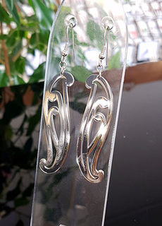 Puhoro Earrings Stainless Steel cutout 55mm