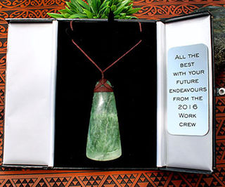 Pounamu Gift Box & Plaque (With message of your choosing)