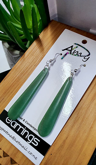 Adventurine Crystal 55mm teardrops
