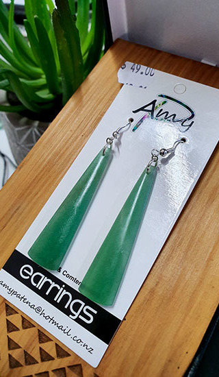 Adventurine Crystal 55mm toki earrings
