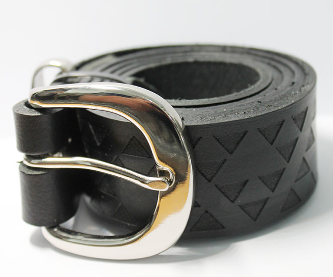 Belt NZ Leather Niho Taniwha Black Size 42