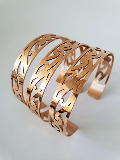 Puhoro Rose Gold Cuff 230mm x 13mm